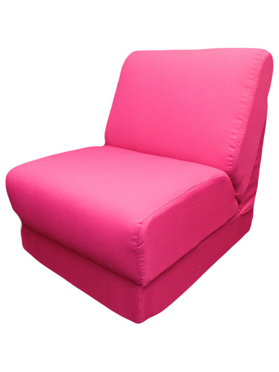 """Fun Furnishings - Fun Furnishings Canvas Teen Chair-Personalized in Fuchsia - What a great place to plop down and relax. Each bag come with a handy pocket to store the clicker or any other prized possession. The outer cover is removable for cleaning. The inner liner bag securely contains new fire retardant �beads"""" and is refillable too. Cleaning the cover. We use only fine upholstery-grade fabrics that can take lots of use from kids. Our micro Suede's, denims and chenille's are all washable."""