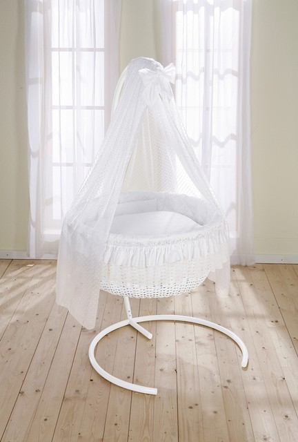 Round Wicker Swinging Crib Contemporary Cots Cribs