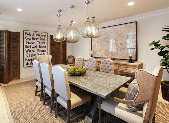 farmhouse dining room remodeling ideas with antler chandelier, Lighting ideas