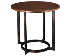 Hammary Nueva Round End Table contemporary-side-tables-and-end-tables