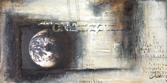 """One"" - Large Artwork - Contemporary - Mixed Media Art ..."