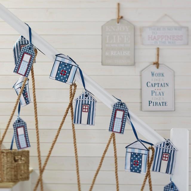 Decor collections 2015 beach hut decorative bunting for Beach hut decoration ideas
