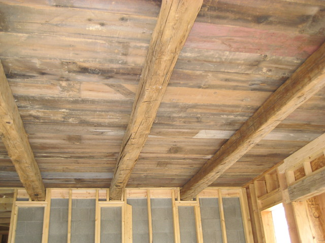cedar and reclaimed cedar beams on exposed plank ceiling  : traditional from www.houzz.com size 640 x 480 jpeg 82kB