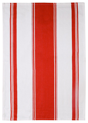 Symmetry Red Dishtowel traditional dishtowels