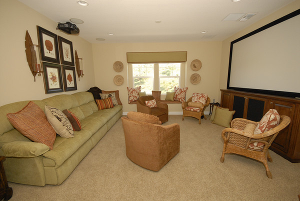 Media Room tropical-home-theater