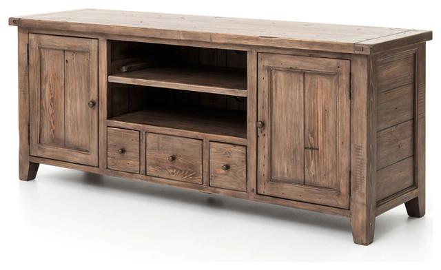 Irish Coast TV Console 3 Drawer/2 Door - Rustic - Media Storage - by Masins Furniture