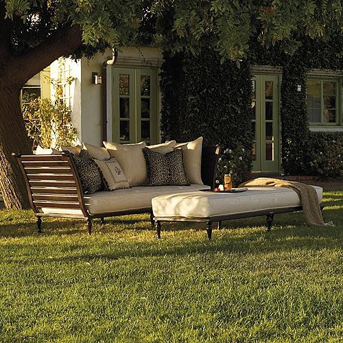 British Colonial Outdoor Daybed with Cushions - Frontgate, Patio ...