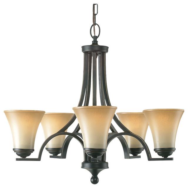 Royce Lighting Fallsburg 5-Light Chandelier in Heirloom Bronze modern-chandeliers