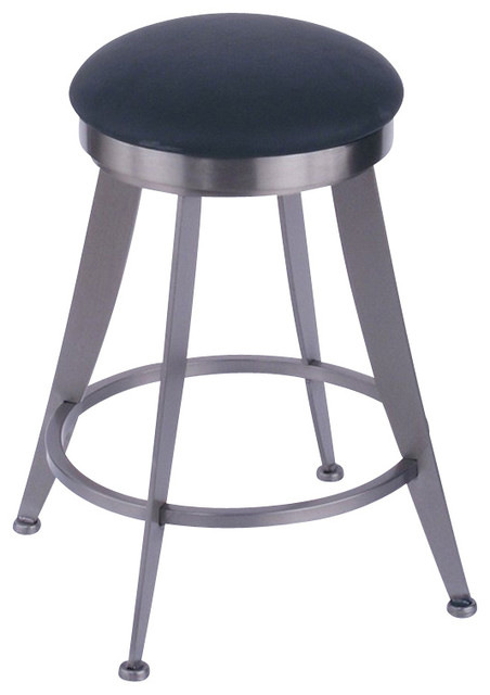 Laser 25 High Upholstered Round Backless Swivel Counter