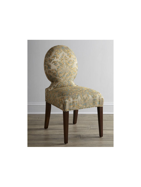 """Haute House - Haute House """"Eclipse"""" Chair - Exclusively ours. From casual gatherings to formal occasions, this dining chair sets the stage for intimate conversation along with the meal. Alder wood frame. Rayon/cotton upholstery. Finished back. 20""""W x 28""""D x 38""""T; seat, 18.5""""T. Made in the...."""