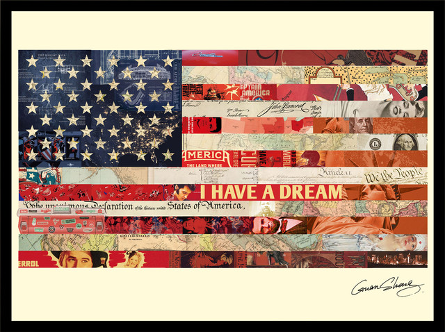 Collage Wall Art American Flag Artwork Sydney By