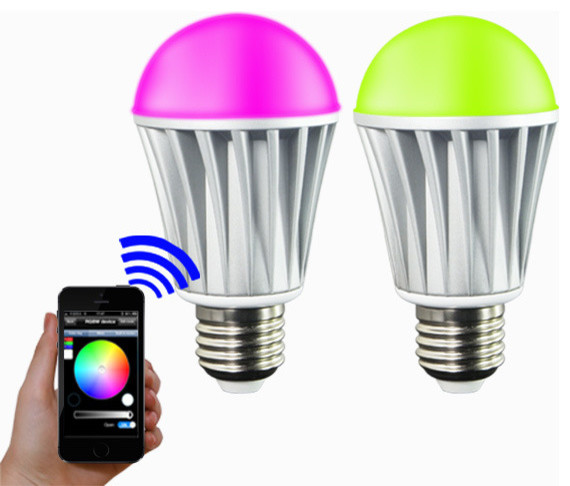Ios android app wifi phone control rgbw color magic led smart light lamp bulb 7w modern Smart light bulbs