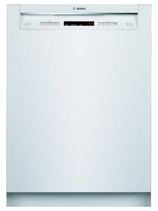 """Bosch 24"""" Recessed Handle 500 Series Dishwasher, White 