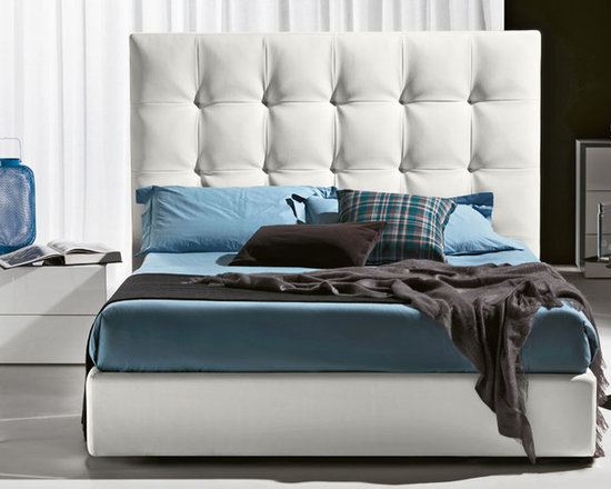 Gem Bed - Gem Bed is constructed in wood frame and upholstered in various leathers and fabrics.