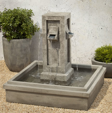 Garden water fountains casual cottage Outdoor water fountains
