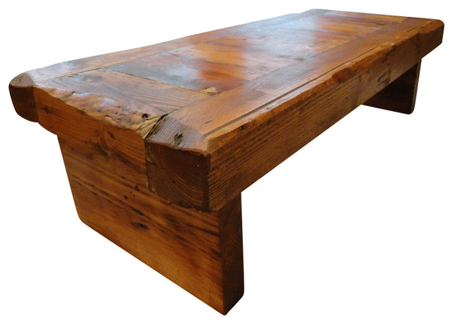 Old Growth Coffee Table 4 Inch Thick Top 30 X 48 Rustic