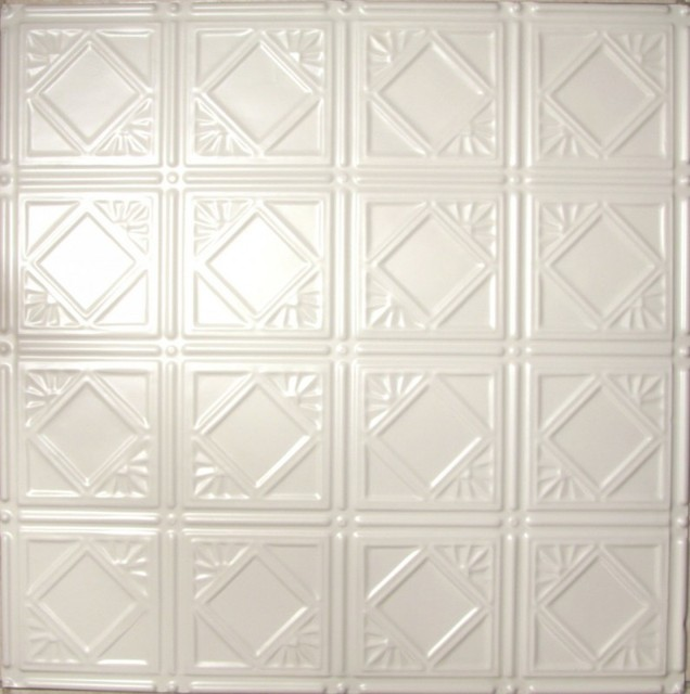 0603 Tin Ceiling Tile - White - Diamondback Squares ceiling-tile