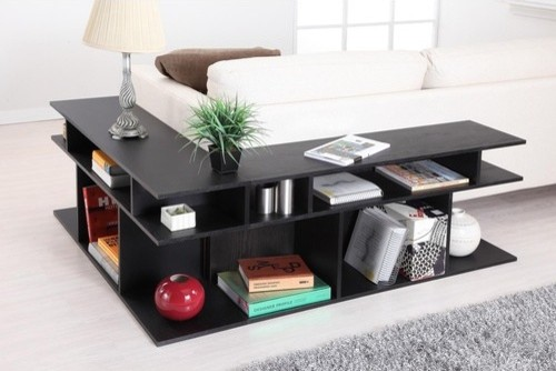 Katrin Black Wood/Console Sofa Table modern-side-tables-and-end-tables