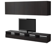 BESTÅ TV storage combination - black-brown - IKEA