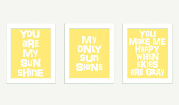 You Are My Sunshine Wall Art by Color Bee contemporary kids decor