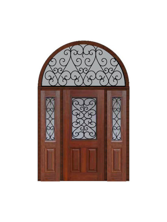 "Prehung Sidelights-Transom Door 80 Fiberglass Palermo 1/2 Lite - SKU#    MCT012WP_DFHPG1-2HRPGBrand    GlassCraftDoor Type    ExteriorManufacturer Collection    1/2 Lite Entry DoorsDoor Model    PalermoDoor Material    FiberglassWoodgrain    Veneer    Price    4910Door Size Options    32"" + 2( 14"")[5'-0""]  $036"" + 2( 14"")[5'-4""]  $036"" + 2( 12"")[5'-0""]  $0Core Type    Door Style    Door Lite Style    1/2 LiteDoor Panel Style    2 PanelHome Style Matching    Door Construction    Prehanging Options    PrehungPrehung Configuration    Door with Two Sidelites and  Half Round TransomDoor Thickness (Inches)    1.75Glass Thickness (Inches)    Glass Type    Double GlazedGlass Caming    Glass Features    Tempered glassGlass Style    Glass Texture    Glass Obscurity    Door Features    Door Approvals    Energy Star , TCEQ , Wind-load Rated , AMD , NFRC-IG , IRC , NFRC-Safety GlassDoor Finishes    Door Accessories    Weight (lbs)    792Crating Size    36"" (w)x 108"" (l)x 89"" (h)Lead Time    Slab Doors: 7 Business DaysPrehung:14 Business DaysPrefinished, PreHung:21 Business DaysWarranty    Five (5) years limited warranty for the Fiberglass FinishThree (3) years limited warranty for MasterGrain Door Panel"