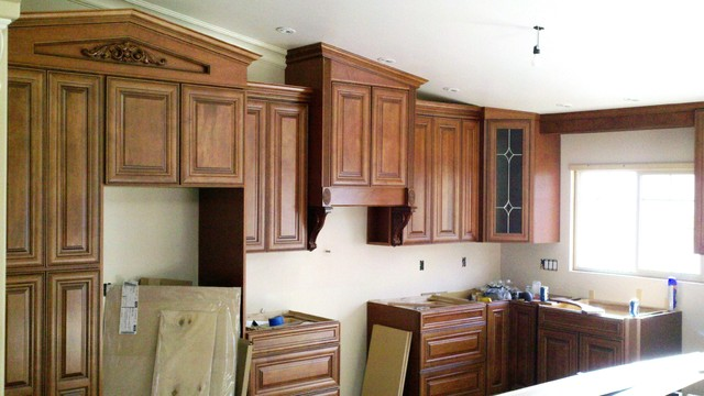 maple wood with auburn glaze cabinetry  Traditional  other metro