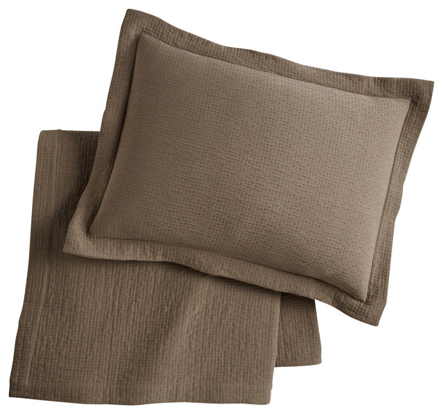 Bradley Coverlet, Driftwood, Queen contemporary-quilts-and-quilt-sets