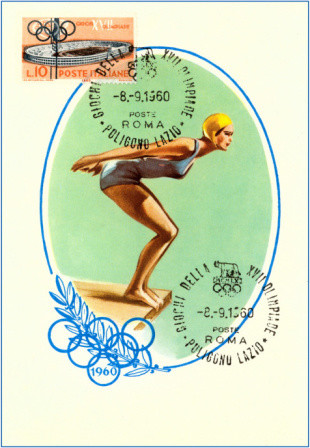 Olympic Diving, 1960 Premium Poster modern