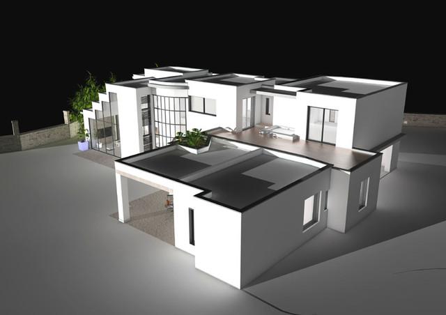 Maison en Drôme Provençale - Contemporary - Rendering ...