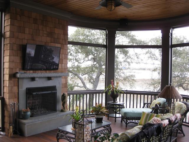 Beach Homes traditional-porch