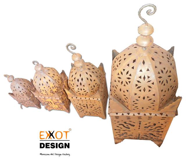 Moroccan metal handmade Lanterns mediterranean-candleholders