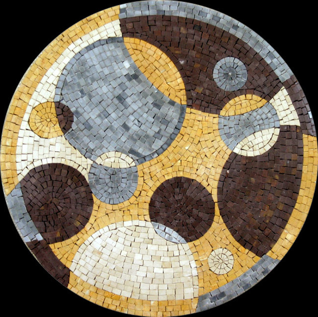 Custom Designed Handcut Marble Mosaic Medallions mediterranean-wall-and-floor-tile