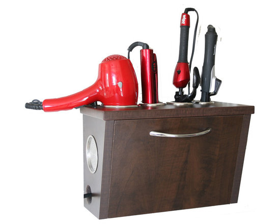Vanity Valet Boutique - The Vanity Valet Boutique (VVB) allows you to store and use up to 4 electrical appliances clearing up your counters.
