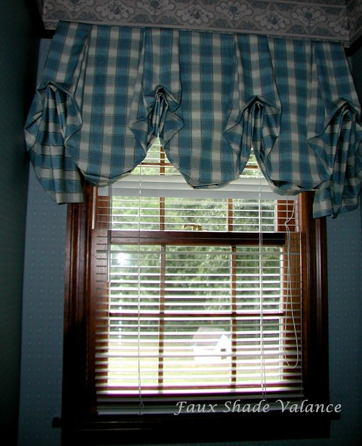 Traditional Window Treatments Living Room: Faux Balloon Shade Valance
