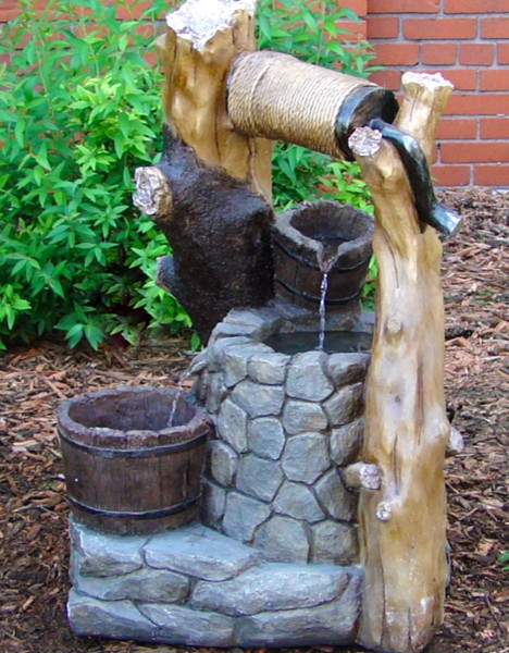 Outdoor Classics Wishing Well Outdoor Fountain traditional-outdoor-fountains-and-ponds