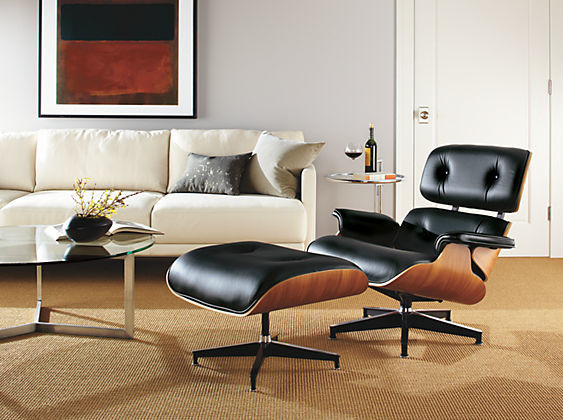 Eames Leather Lounge Chair Amp Ottoman By R Amp B