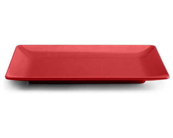 Elite Global Solutions - Cranberry Rock On 18 x 11 1/2 x 1 1/2 H Rectangular Platter - Case of 2 - DescriptionsThe roar of the crowd the vibrations of the music the gravity defying moves of the lead singer...when you serve up delicious dinners with the Rock On collection youll be such a hit youll feel like a rock star