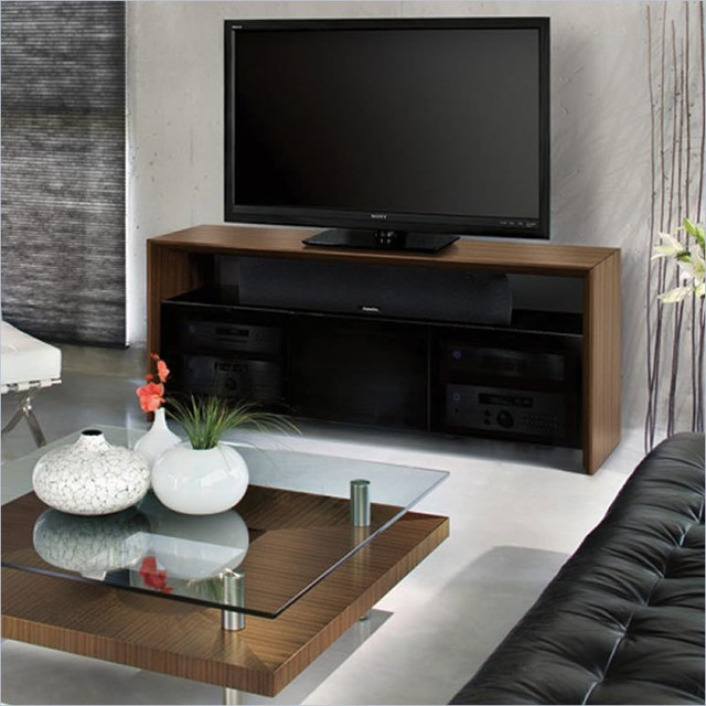 BDI Casata Wood Flat Panel/ Plasma TV Stand in Natural Walnut - Entertainment Centers And Tv ...