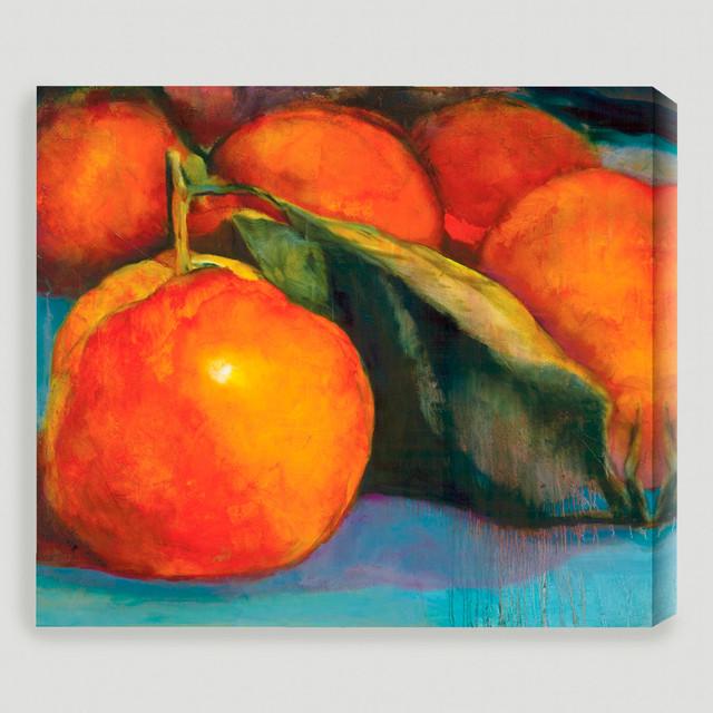 'Orange Glow' Giclée Canvas by Sylvia Angeli traditional-artwork