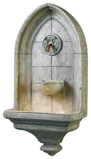 Kenroy 53265CT Canterbury Wall Fountain transitional-indoor-fountains