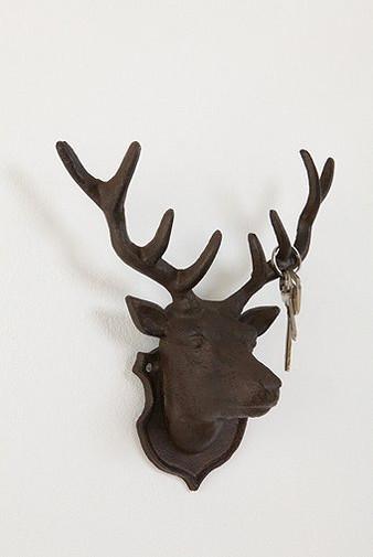 Deer Head Hook eclectic-hooks-and-hangers