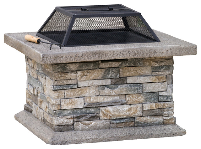 Kentwood Outdoor Fire Pit Contemporary Pits By