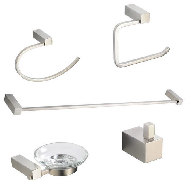 Fresca Ottimo 5 Piece Bathroom Accessory Set Chrome