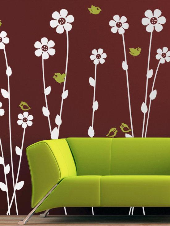 Flowers and Birds - Original design © 2012 Wall Definition.