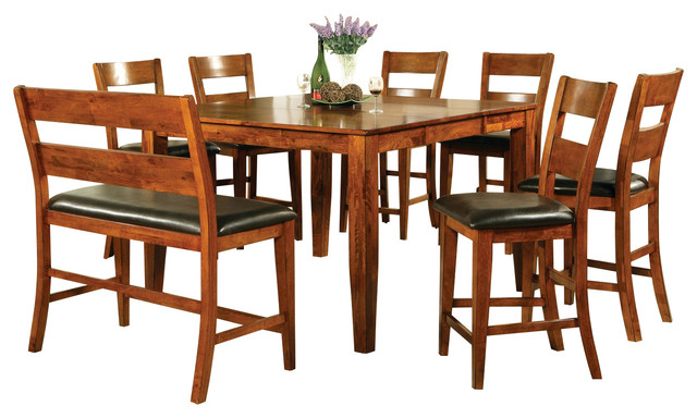 Steve Silver Mango 8 Piece Counter Height Set With Leaf