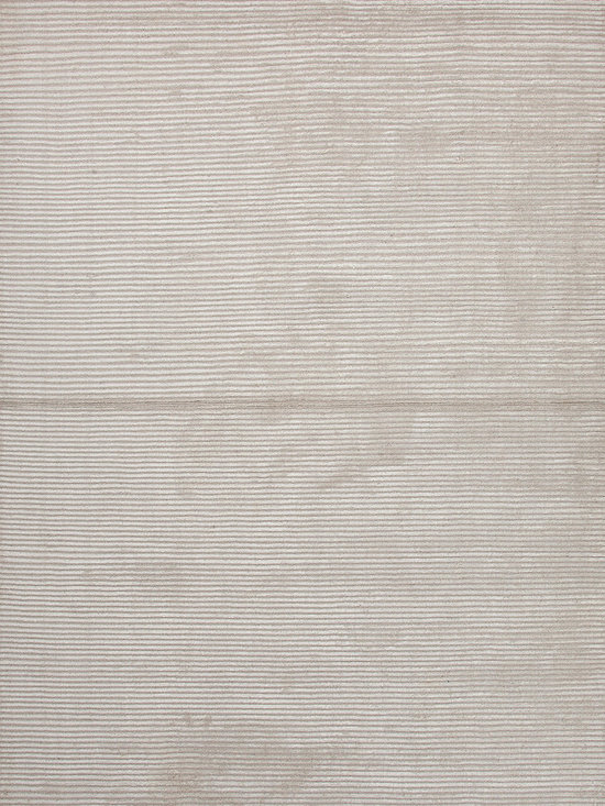 Jaipur Rugs - Solid Pattern Ivory /White Wool/Silk Handloom Rug - BI10 - Treat your feet with every step you take on this silk and wool rug. The soft, hand-loomed rug has a ribbed construction that adds depth and texture to your room. Use it in the bedroom so you can start and end your day in luxury.
