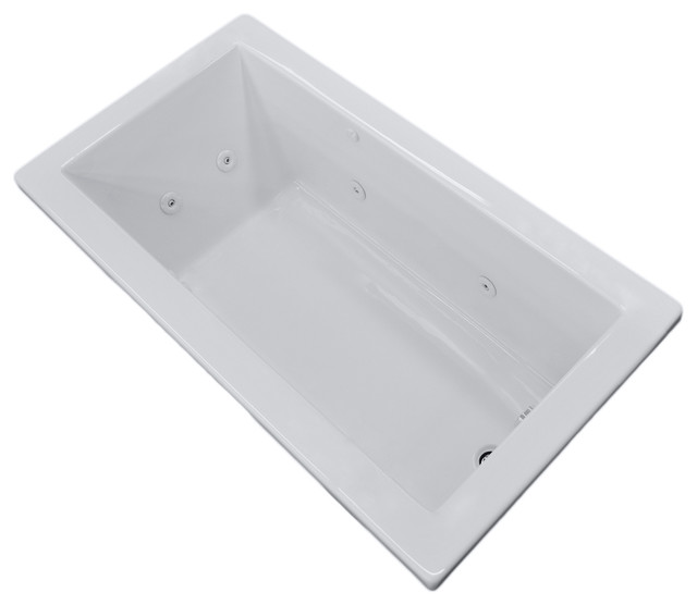 Venzi Villa 32 x 66 Rectangular Whirlpool Jetted Bathtub modern-bathtubs