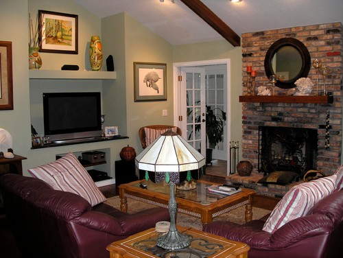 Living Room Has 2 Focal Points Fireplace And Built In