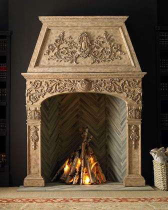 Stonebriar Mantel traditional-fireplace-accessories