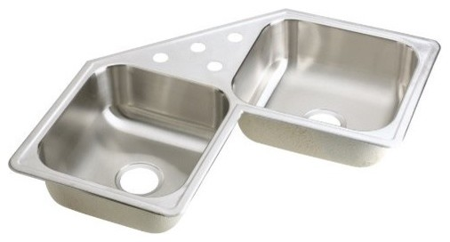 Stainless Steel Corner Sinks For Kitchens : ... Stainless Steel Corner Kitchen Sink wit - Traditional - Kitchen Sinks